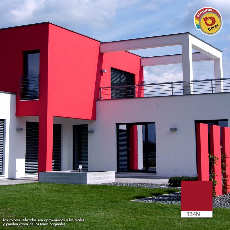 La fachada de tu casa es tu carta de presentaci n p ntala con la amplia gama de colores que - Pintura para fachada ...