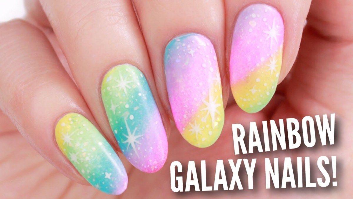 DIY Rainbow Galaxy Nail Art! | Nails | Pinterest | Galaxy nail art ...