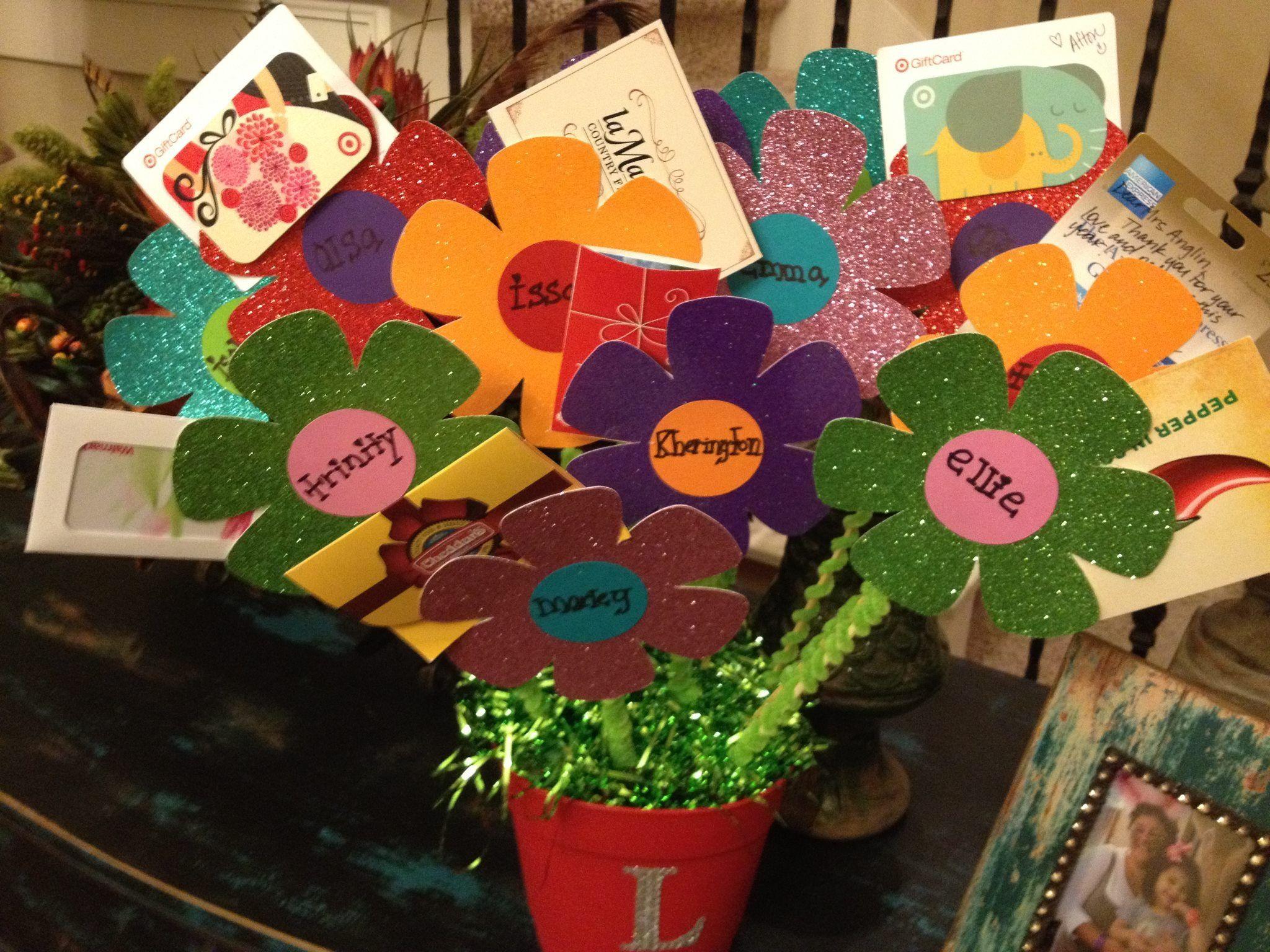 Gift card tree ideas pinterest - Teachers Gift Card Bouquet