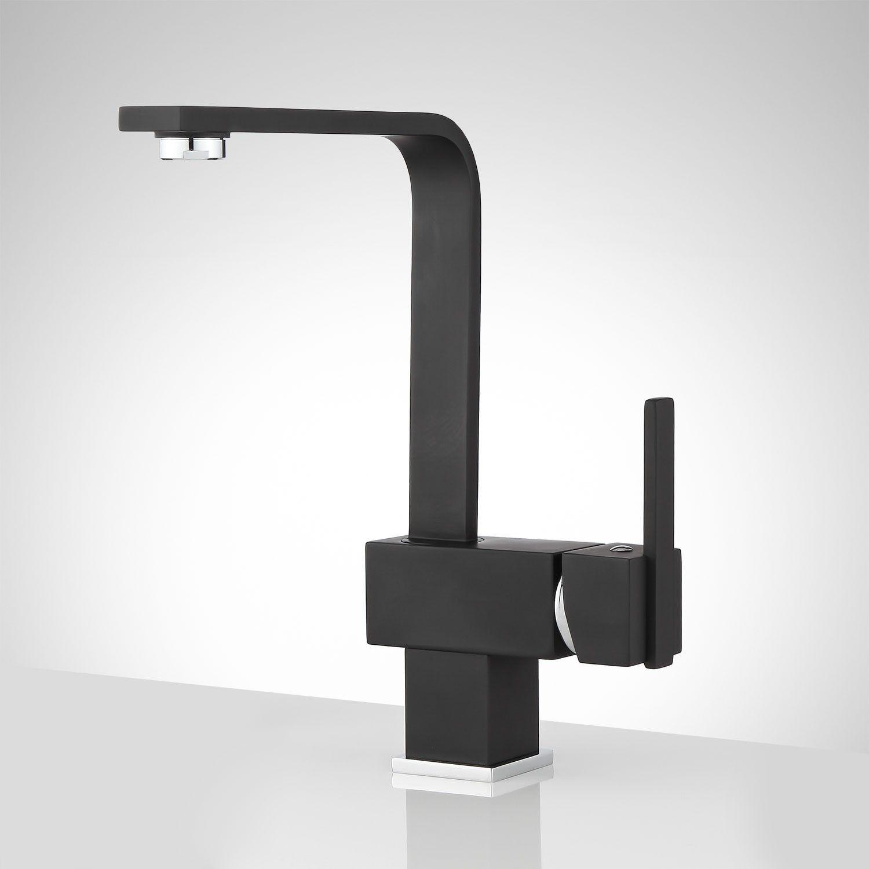 Hebron single hole kitchen faucet