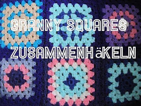 Granny Squares zusammen häkeln (mit festen Maschen) - YouTube ...