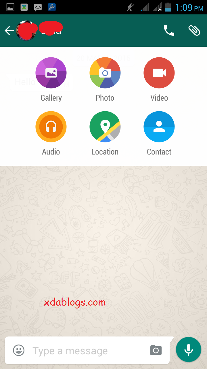 Latest official Whatsapp with material design Material