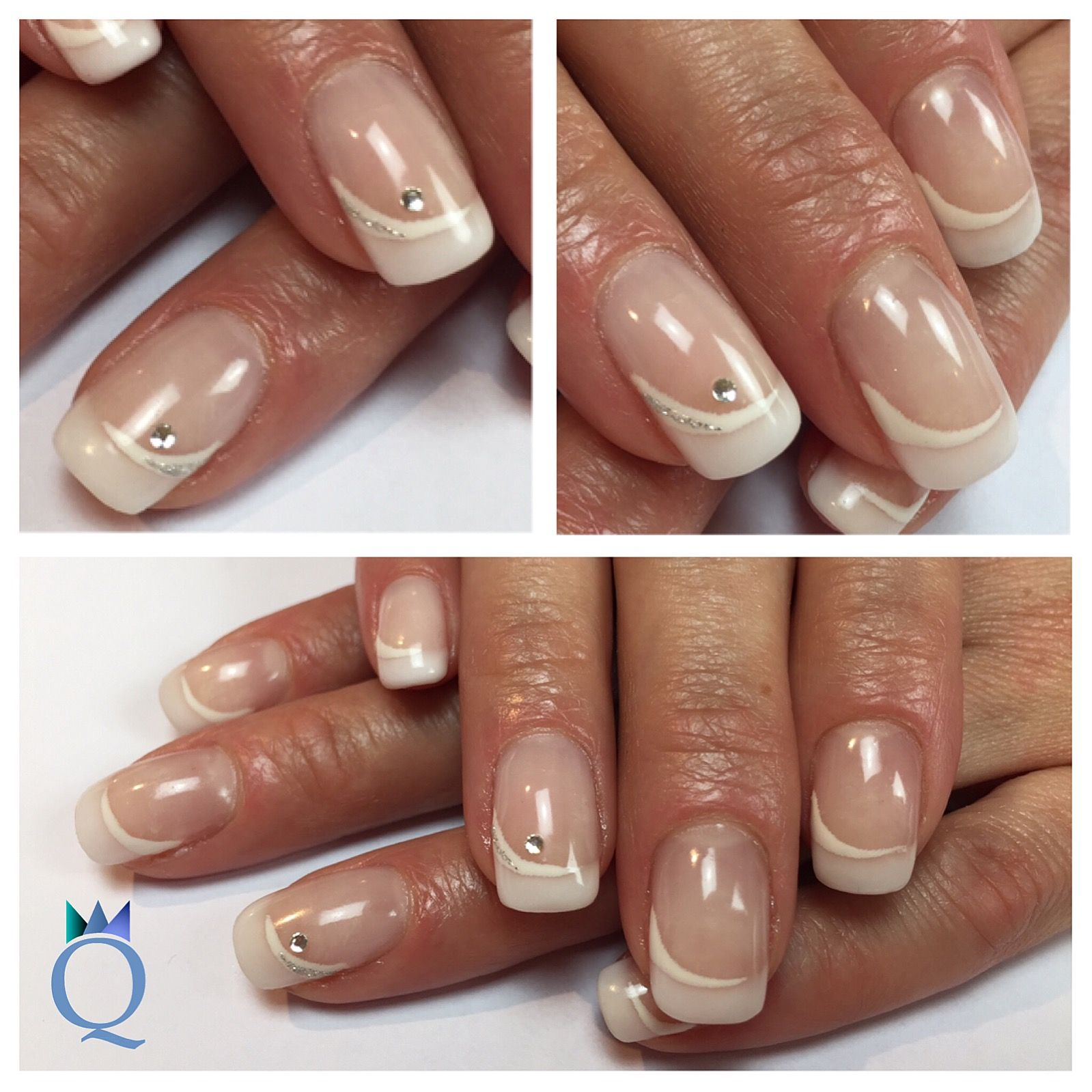 French Nägel Shortnails Gelnails Nails Frenchnails Christal