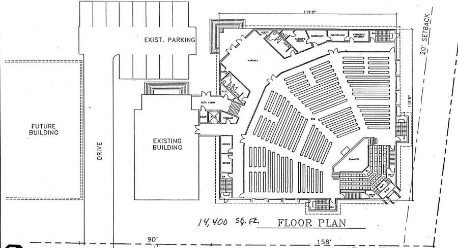 Church plan 147 lth steel structures church buildings for Church floor plan designs