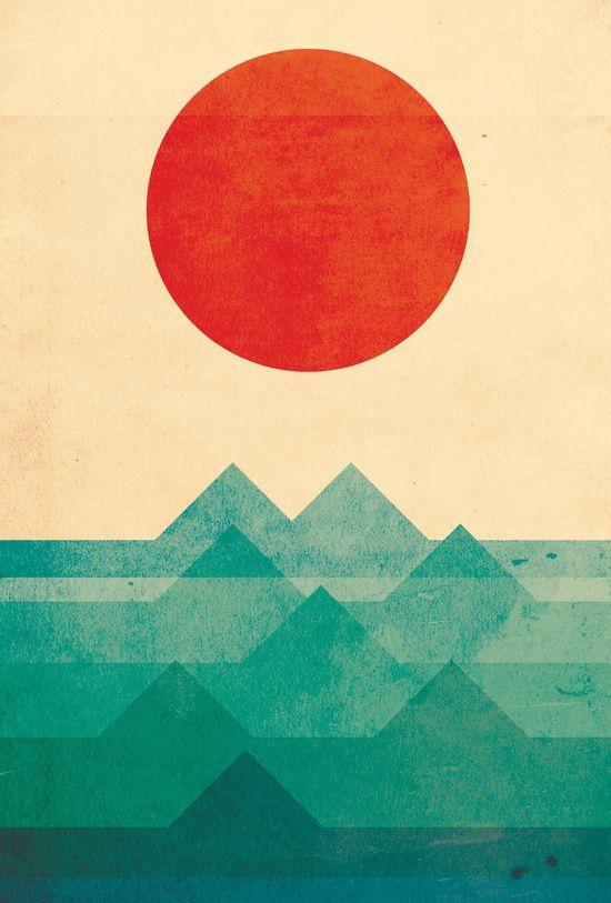 The ocean, the sea, the wave Art Print by Budi Kwan | Society6