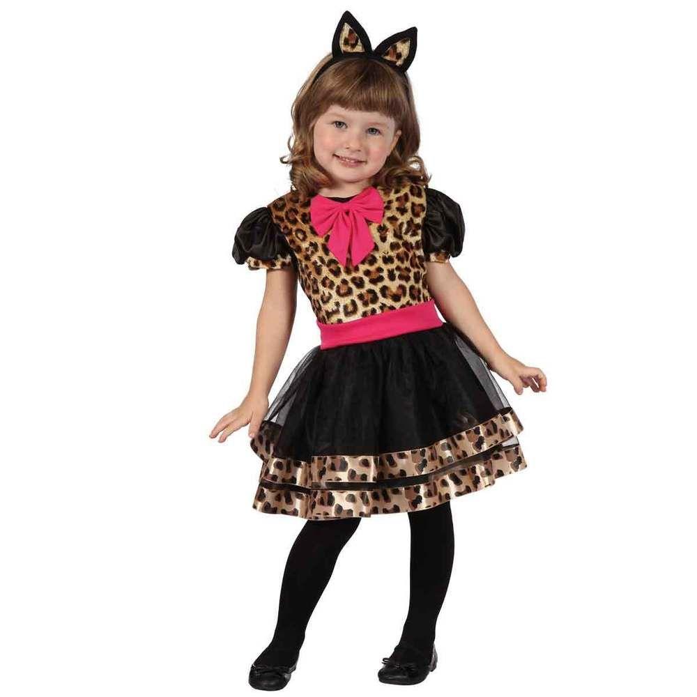 Kostum Leopard Katze Tiger Kinder 92 104 Fasching Karneval
