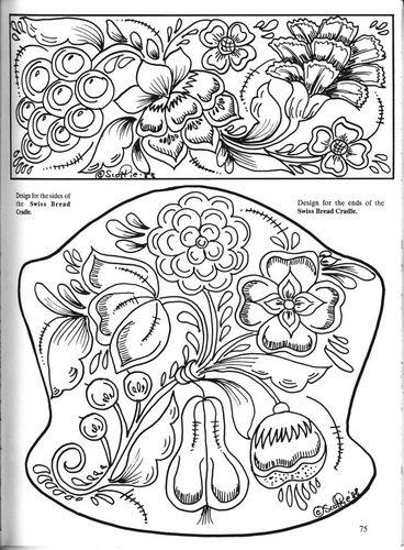 bavarian folk art coloring pages - photo#12