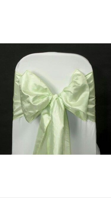 Pistachio taffeta chair sash