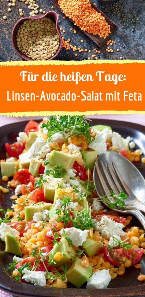 Rezept für Linsen-Avocado-Salat mit Feta #potatosalad