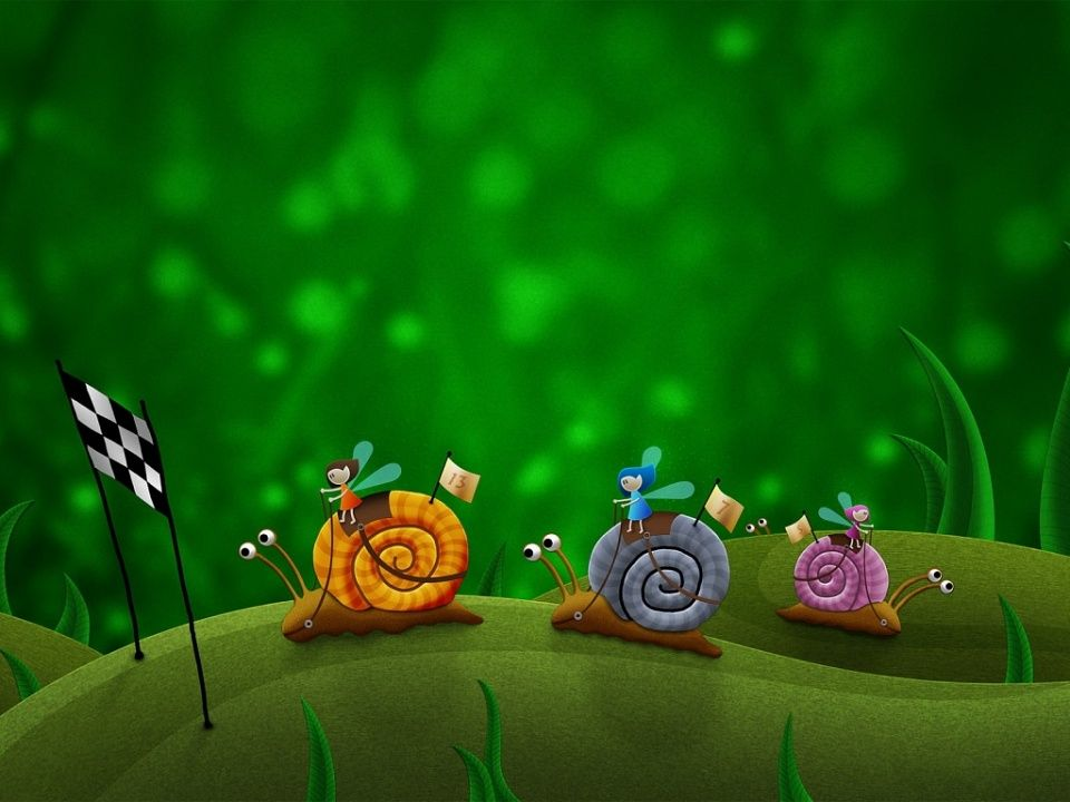 Racing Snails With Images Creative Graphics Cute Wallpapers