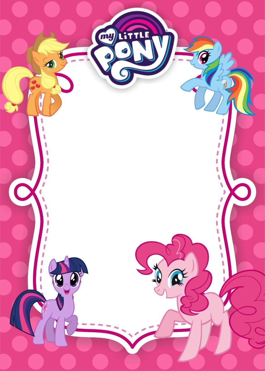 My Little Pony Birthday Invitation Template Equestria Edition My Little Pony Invitations My Little Pony Birthday My Little Pony Birthday Party