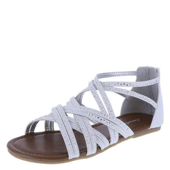 She'll sparkle and shine throughout the day and into the night with this gladiator sandal from American Eagle. It features a fabric upper with rhinestone accents, lightly padded footbed, and a sturdy outsole. Manmade materials.