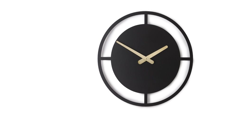 Croesi Wall Clock Matt Black Made Com David Weatherhead Large Wall Clock Clock Wall Clock 50cm