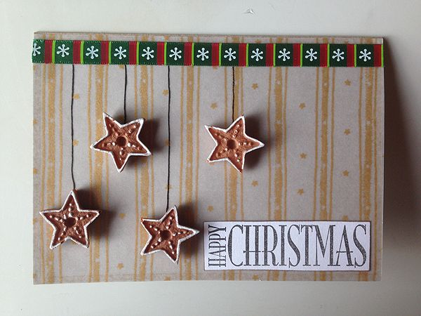 Christmas card with stars.