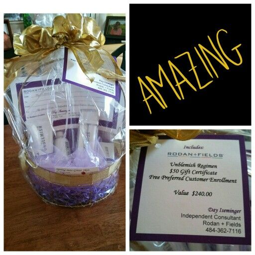Rodan + Fields Unblemish Raffle Basket.  Contact day@daisymaeprinting.com for templates.
