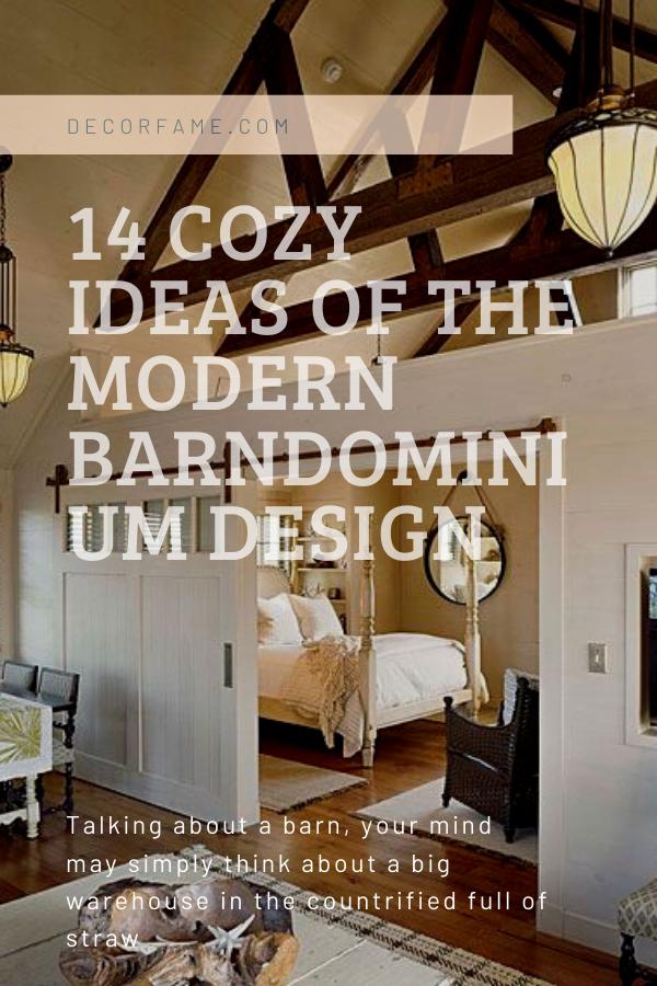 14 Cozy Ideas of the Modern Barndominium Design #barndominiumideas