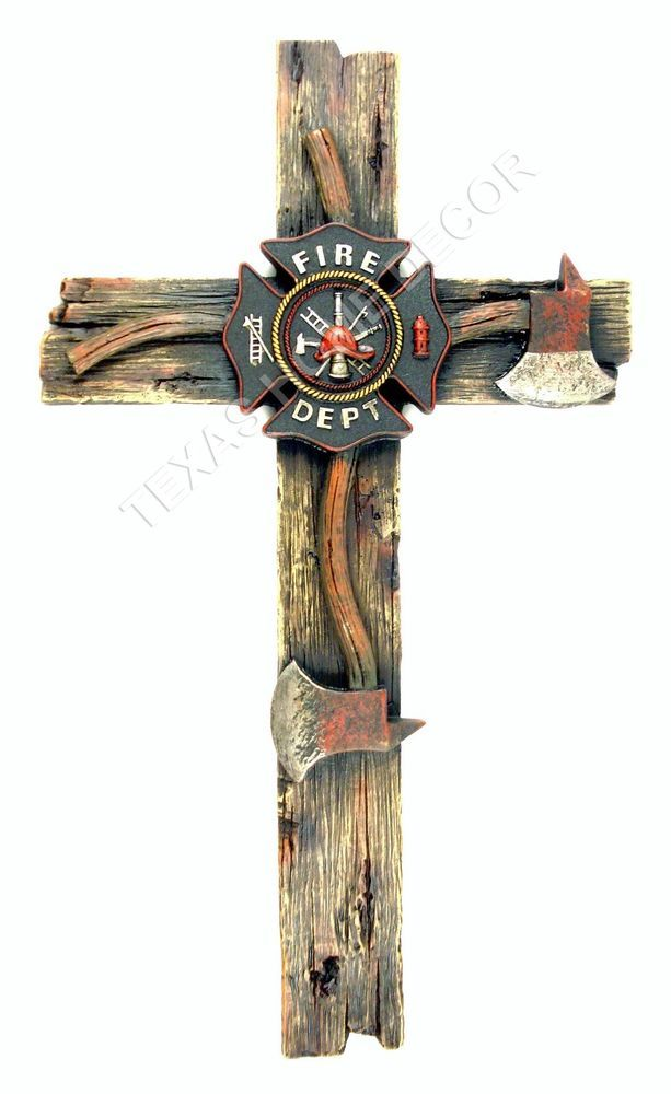 Firefighter decor on pinterest firefighters wife for Cross decorations for home