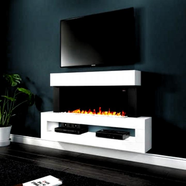 Amberglo White Wall Mounted Electric Fireplace Suite With Led Shelf Fireplace In 2020 Electric Fireplace Suites Fireplace Suites Wall Mount Electric Fireplace