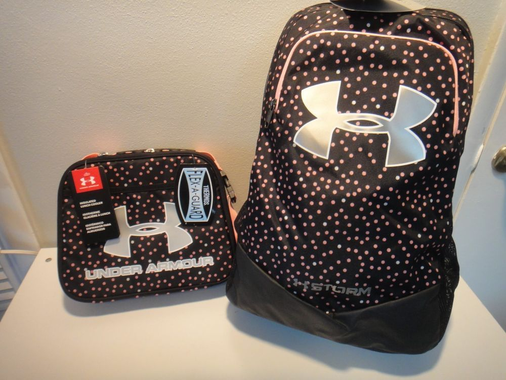 bc906468f0 Under Armour Switchup Strom BackPack & Insulated Lunch Box Pink Polka Dots # Underarmour #BackpackLunchBox