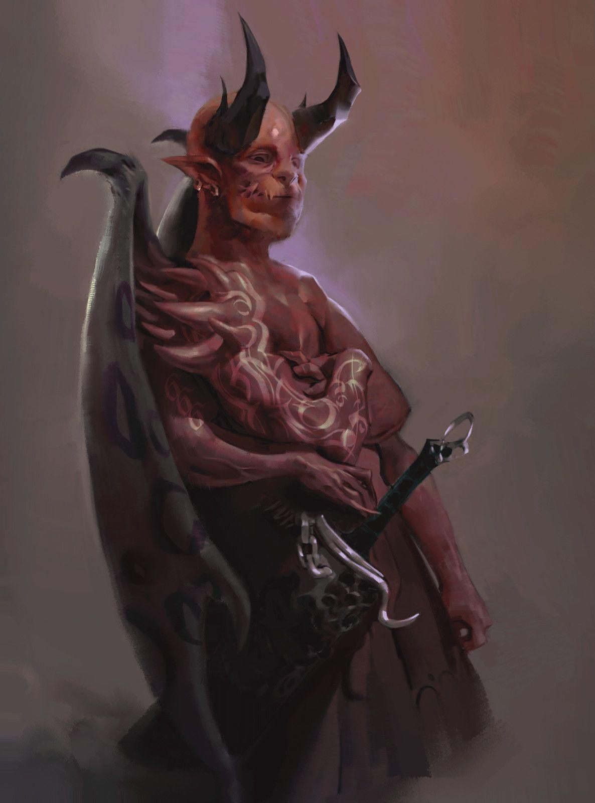 Dark Fantasy Demon Art