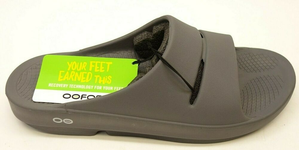 New OOFOS Mens OOahh Impact Absorption Recovery Footwear
