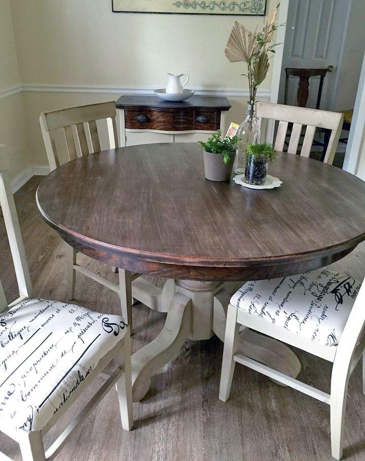 Millstone And Anitque Walnut Dining Set