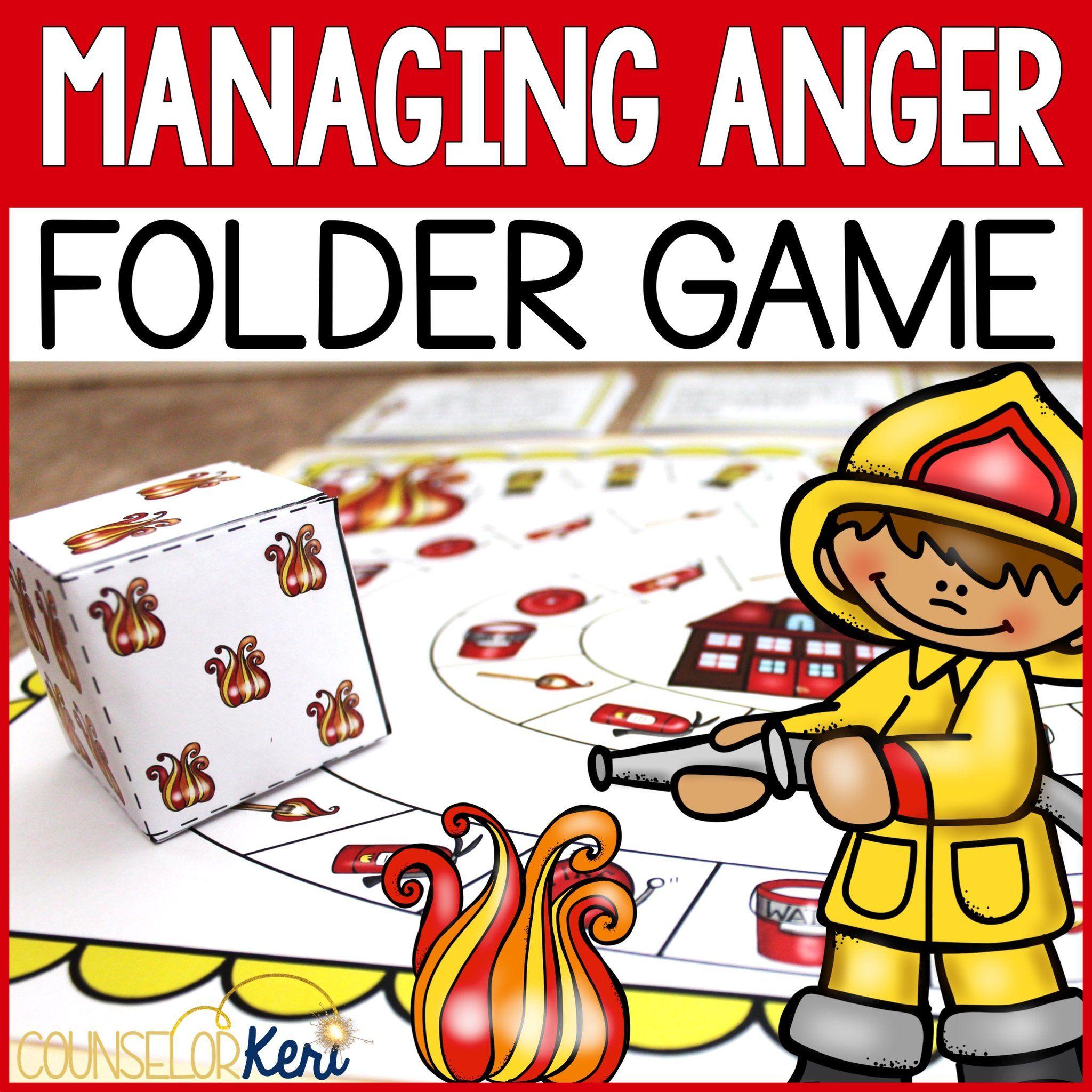 Managing Anger Folder Game For Elementary School