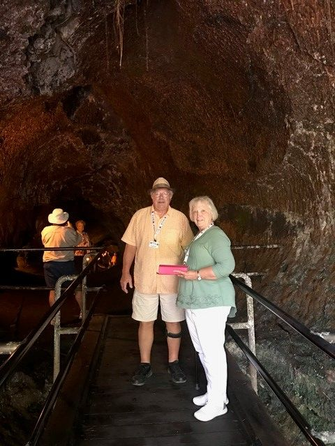 John Hall's Alaska Guests Explore An Underground Lava Tube