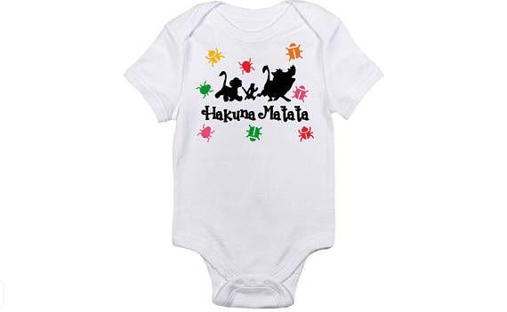 49f1adc4e Hakuna Matata. Disney The Lion king onesie. Baby onesie body | All ...
