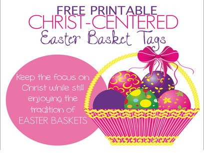 Christ centered easter basket tags free printable tags to attach to christ centered easter basket tags free printable tags to attach to fun common items in easter baskets keep the focus on jesus christ negle Image collections