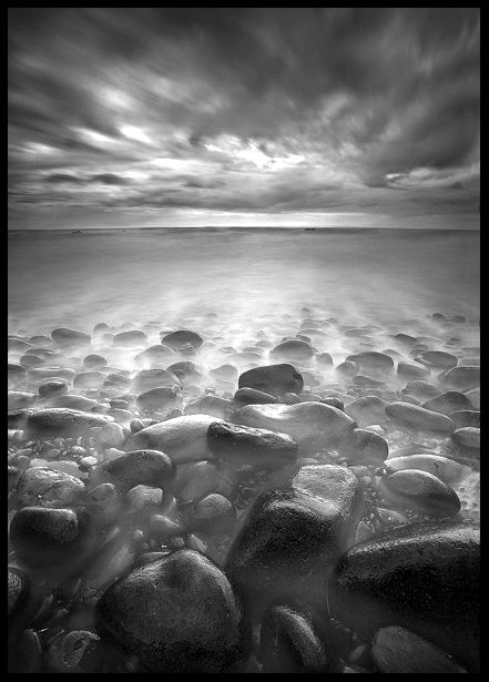Long Exposure Photography Rocks Black And White Landscape Exposure Photography Black And White Portraits