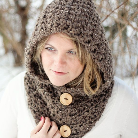Scarf CROCHET PATTERN Cowl HOODIE Easy The Toronto | Pinterest ...