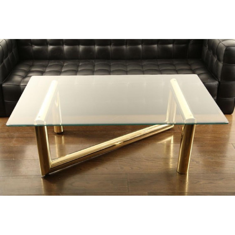 Karl Springer Z Shaped Brass Glass Coffee Table Aptdeco Glass Coffee Table Coffee Table Glass Top Coffee Table [ 1500 x 1500 Pixel ]