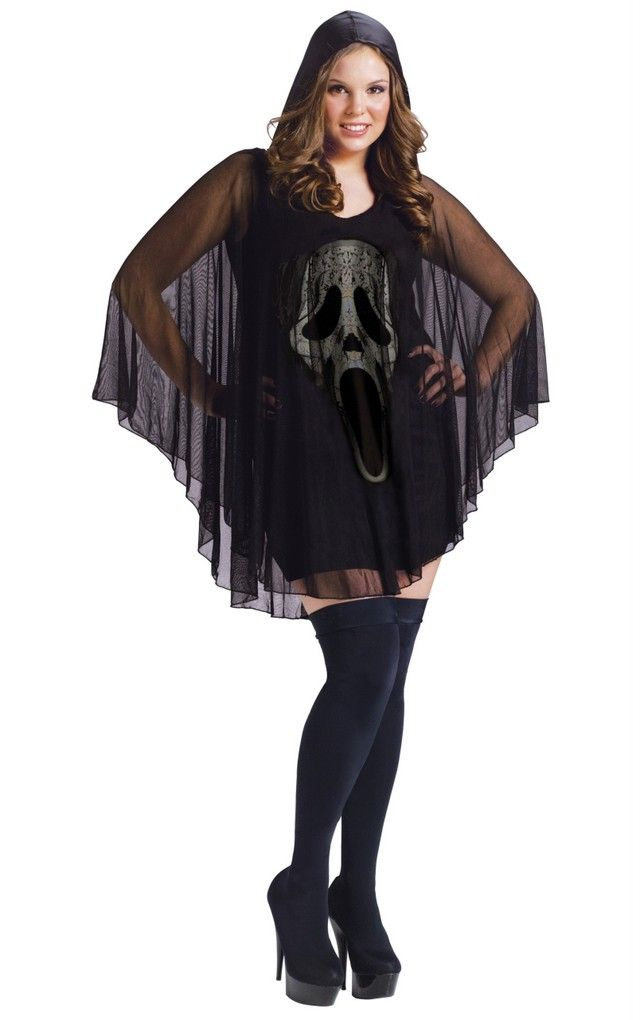 Sexy Poncho Ghost Face Plus Size Halloween Costume 119955 - halloween costume ideas plus size