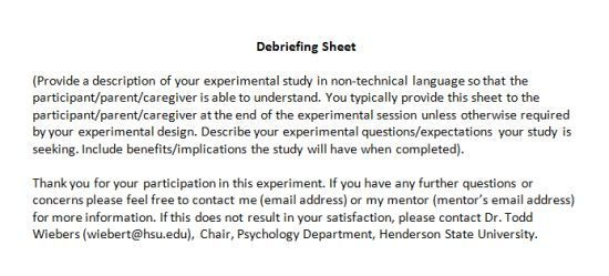 Psychology Debrief Template 10 Free Templates For Psychological
