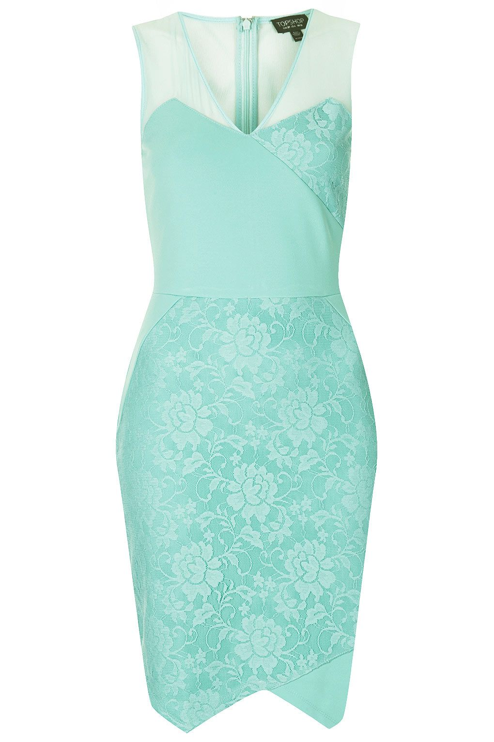 V Lace Applique Bodycon Dress - New In This Week - New In - Topshop ...