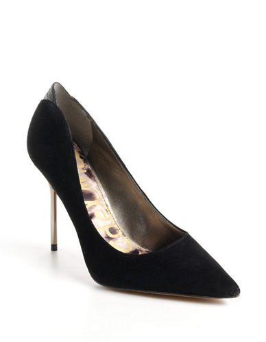 4543b9e10 Sam Edelman Danielle Suede Pumps Black Suede. Suede PumpsShoes WomenWoman  ...