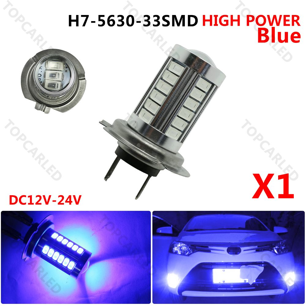 New Hot Super Led Bright H7 Led 5630 Smd 33 Led 12v Xenon Lamp White Auto Car Fog Driving Turn Tail Light Lamp Bulb Car Lights Lamp Bulb Lamp Light