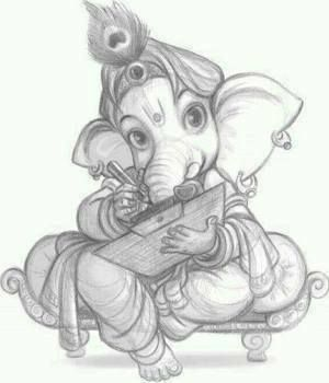 Ganpati Bappa Sketch Ganesha Drawing Ganesha Art Ganesha Sketch