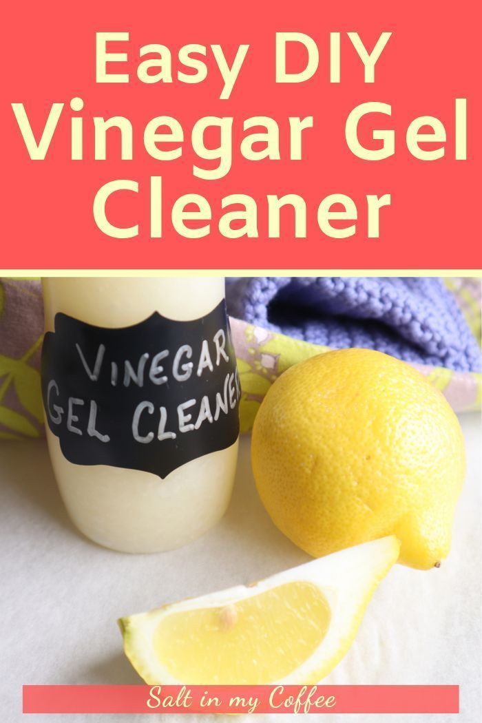 Vinegar Gel is a powerful cleaner that works near-miracles on soap scum and other stubborn grime. This easy all-natural vinegar gel cleaner recipe is a much cheaper alternative to commercial vinegar gels, and doesn't contain harmful chemicals like even many