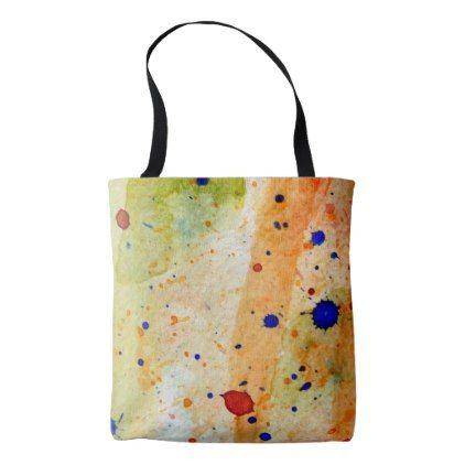 Artsy Paint Splatter Artist Tote Bag And
