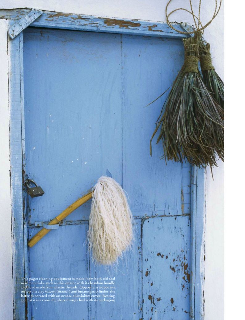 English Country Cottage With A Painted Cornflower Blue Exterior Door