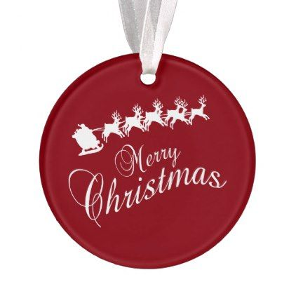 Merry Christmas Sleigh Ornament