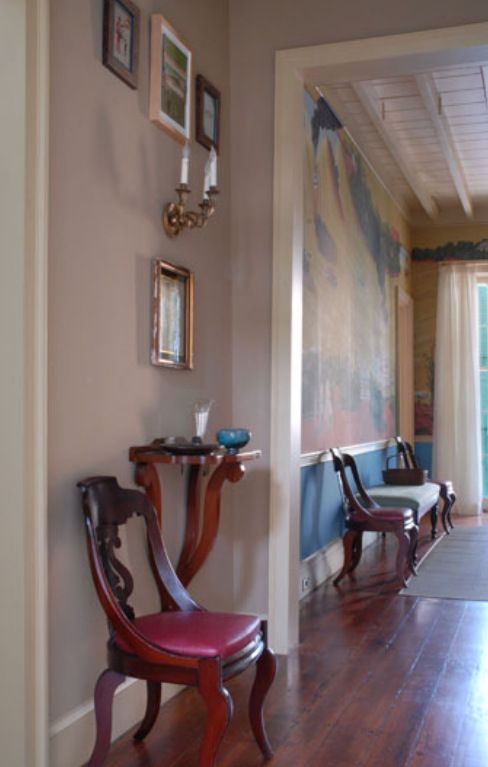traditional style hallway with smokey orchid walls color schemes rh pinterest com