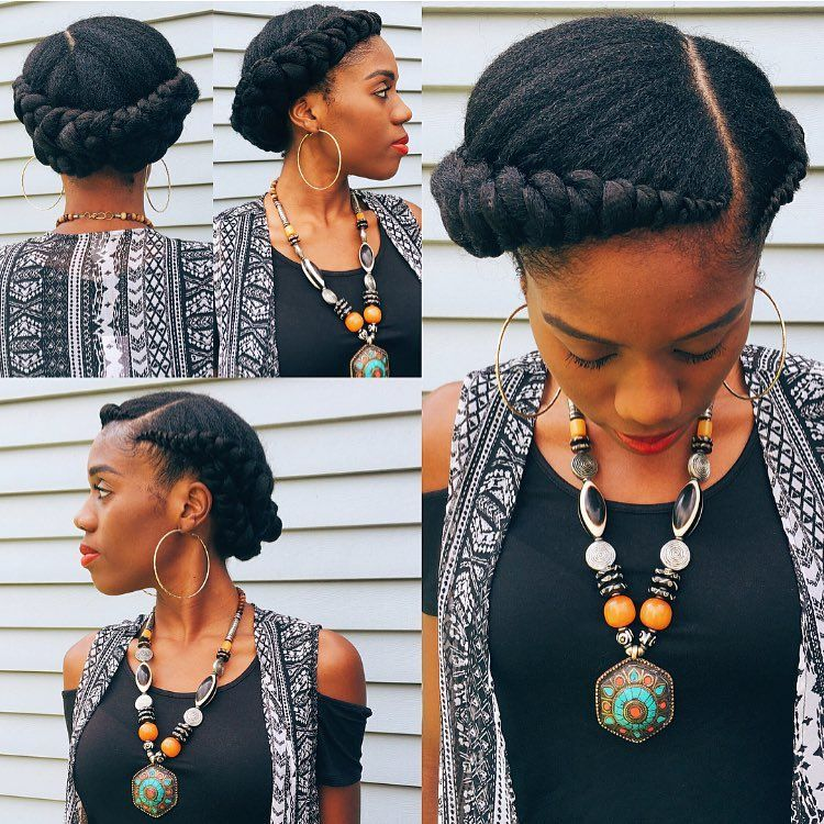 Hairstyles With A Crown: Crown Braids Done By London's Beautii Located In Bowie, MD
