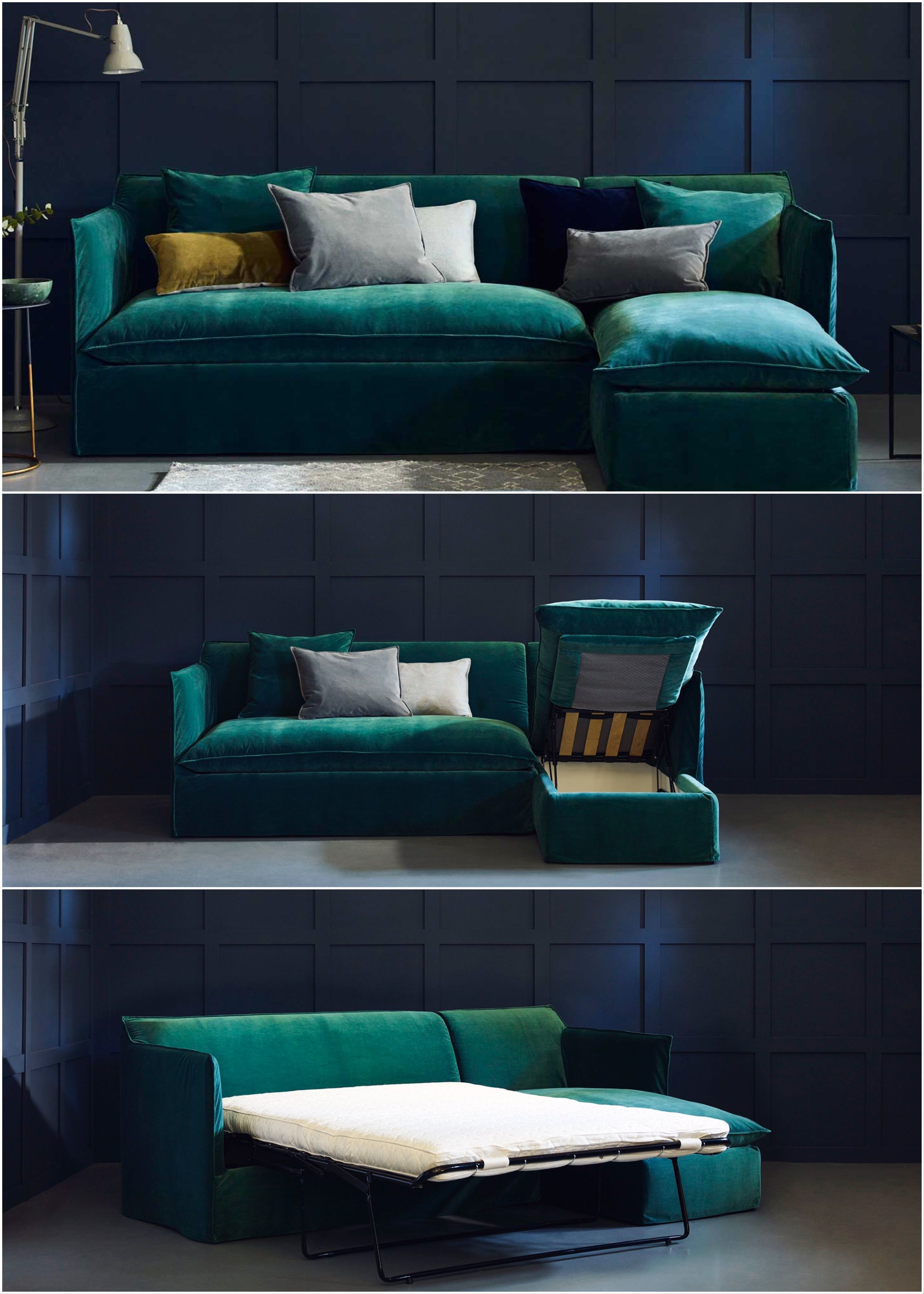 Sophie Sofa Bed Skinny Arms Give You More Room For Slouching Or Sleeping By Adding A Corner Chaise To Our Sophie Sofa Sofa Bed Uk Chaise Corner Corner Sofa