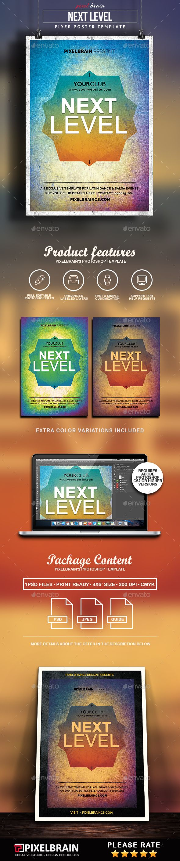 Next Level Flyer Template   Flyers, Flyer template and Bass