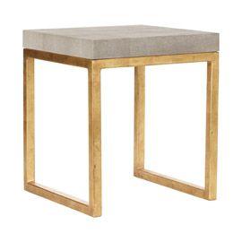 oka fake shagreen side table