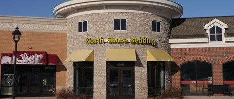 Simmons Beautyrest and Natural Organic Latex Mattress Store in Northbrook, a Chicago suburb.   North Shore Bedding