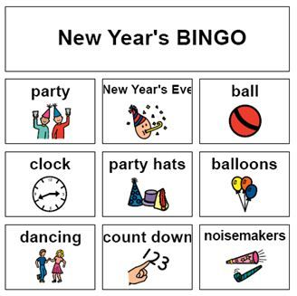 New Year S Bingo On Speaking Of Speech New Year Speech New Years Activities Speech And Language